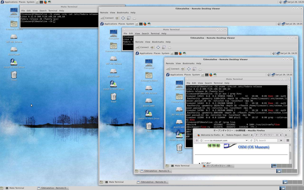 オープンギャラリー:Hyper-V Server 2012 R2環境でのFedora 20