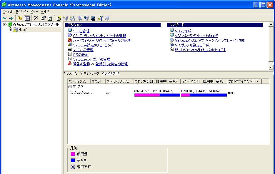 オープンギャラリー:Virtuozzo(Fedora Core 4編)
